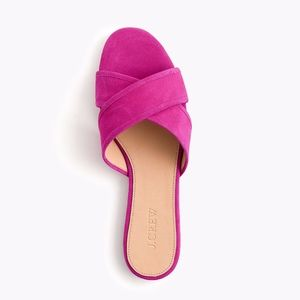 NWT J.Crew Suede Cora crisscross sandals pink